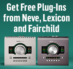 Get Free Plug-Ins From Neve, Lexicon, and Fairchild