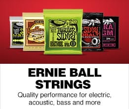 ERNIE BALL STRINGS Quality performance for electric, acoustic, bass and more.