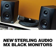 Sterling MX Black Studio Monitors