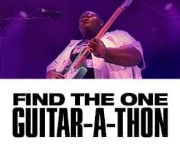 Find the One. Guitar-A-Thon.