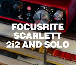 Focusrite Scarlett 2i2 and Solo