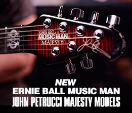 New Ernie Ball Music Man John Petrucci Majesty  Models