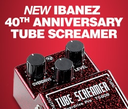 New Ibanez 40th Anniversary Tube Screamer