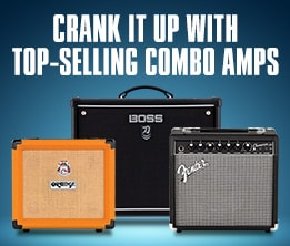 Crank it up with top-selling combo amps