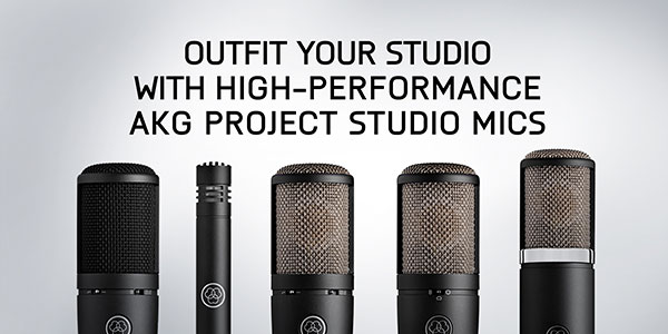 Outfit your studio with high-performance akg project studio mics
