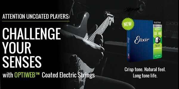 Attention uncoated players challenge your senses with optiweb coated electric strings