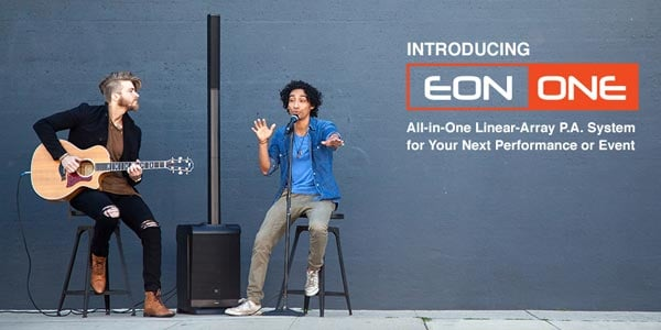 Introducing the JBL Eon One all in one linear array P A system for your next performance or event