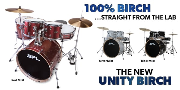 SPL Unity Birch Series 5 Piece Complete Drum Set