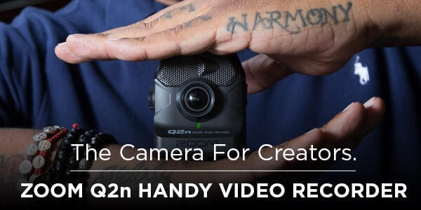 The Camera for Creators Zoom Q 2 n