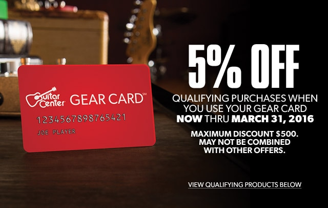 Guitar Center Financing 5% off