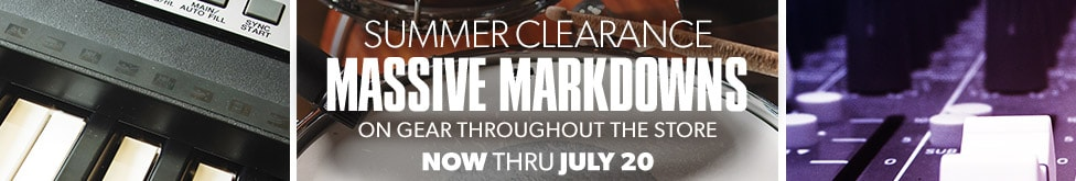 Summer clearance massive markdowns on gear throughout the store now thru july twentieth