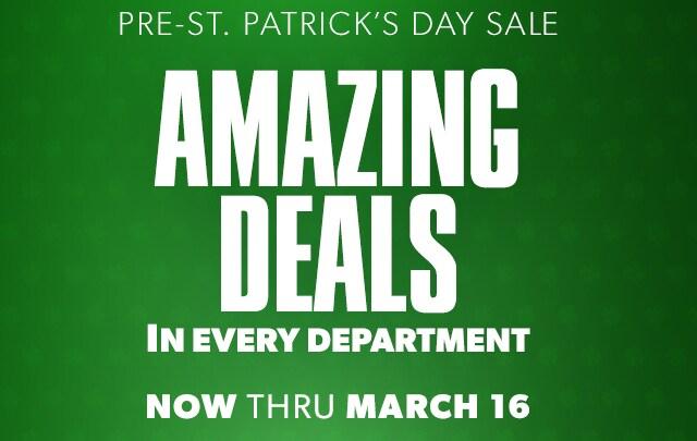 Pre-St. Patrick's Day Sale