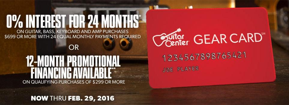 Guitar Center Gear Card