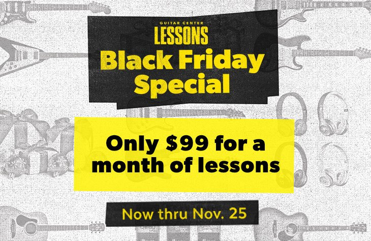 Repairs Black Friday Special, only $99 for a month of lessons