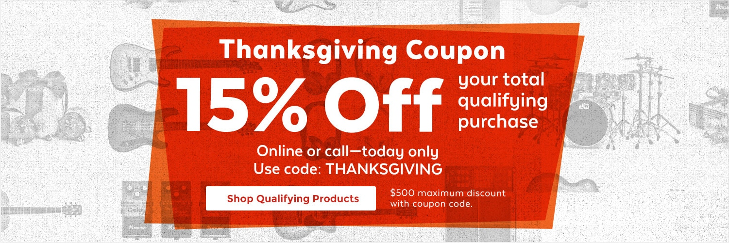 Thanksgiving Coupon, 15% Off your total qualifying purchase