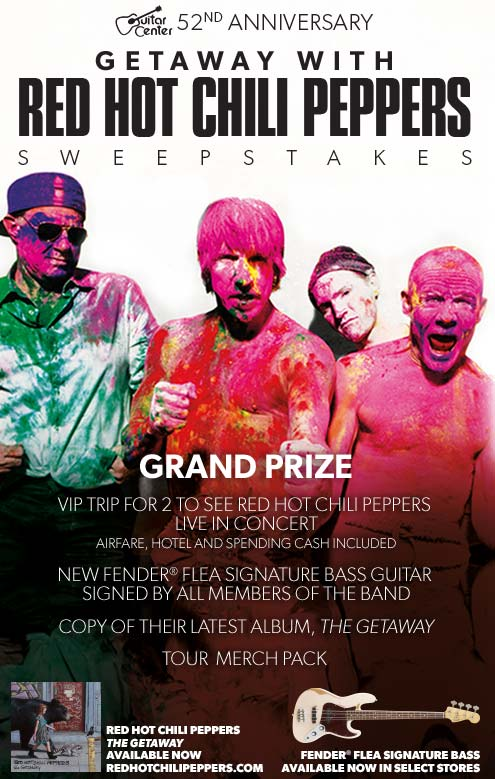 Getaway with the Red Hot Chili Peppers sweepstakes