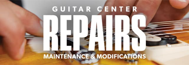 Guitar Center repairs maintenance and modification
