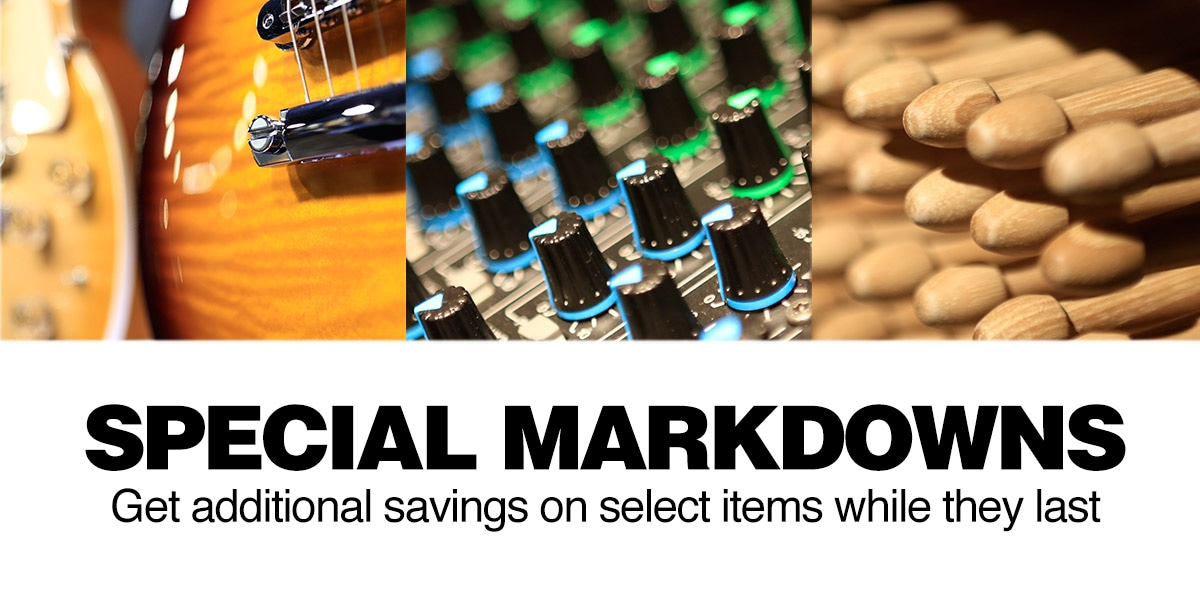 Special Markdowns, get additional savings on select items while they last.
