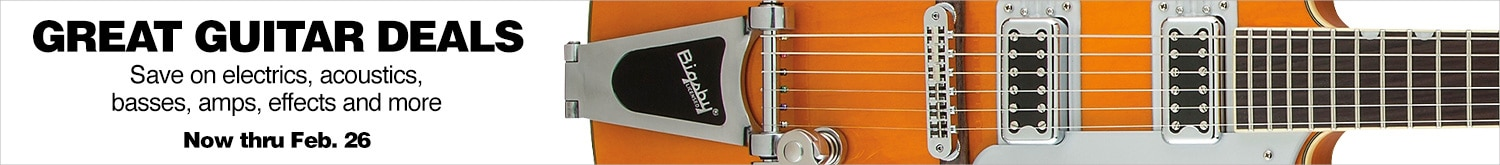 Great guitar deals, save on electrics, acoustics, basses, amps, effects and more.