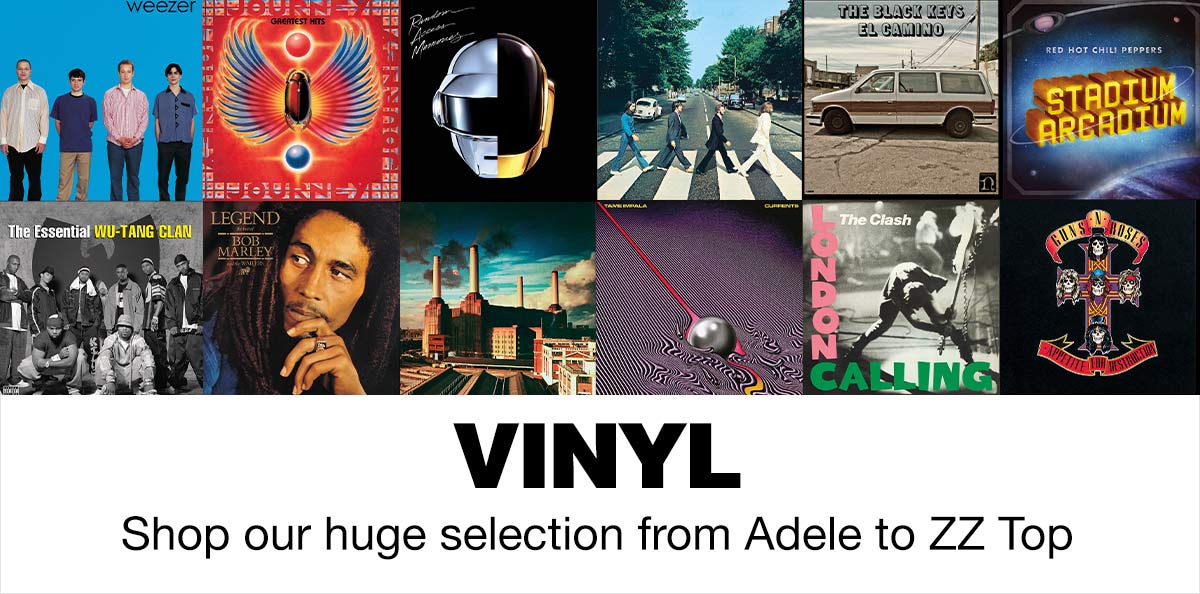 Vinyl, shop our huge selection from Adele to ZZ top.