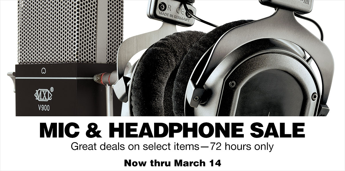 Mic and headphone sale