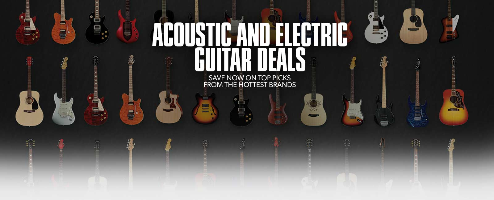 Electric & Acoustic Guitar Deals