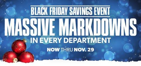Black Friday Massive Markdowns