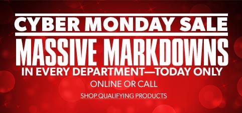 Cyber Monday Massive Markdowns