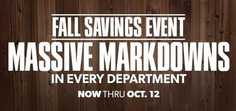 Fall Savings Deals