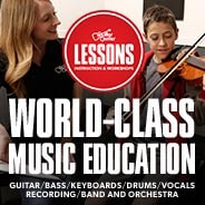 Band and Orchestra Lessons. World-class music education.  Guitar, bass, keyboard, drums, vocals, recording, band and orchestra.