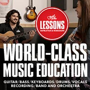 Guitar Center Lessons.  World-class music education.  Guitar, bass, keyboard, drums, vocals, recording, band and orchestra.