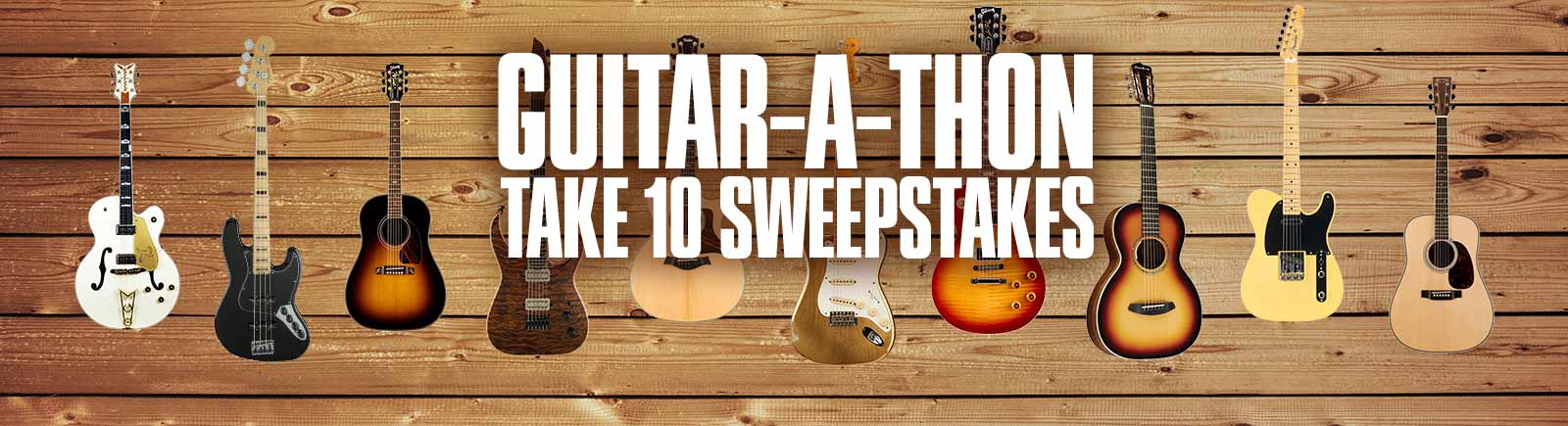 Online Guitar-A-Thon Sweeps