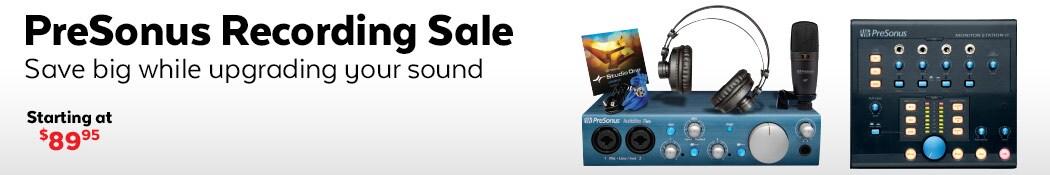 Presonus Recording Sale