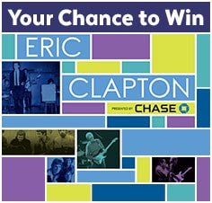 Enter the Eric Clapton Live Sweepstakes