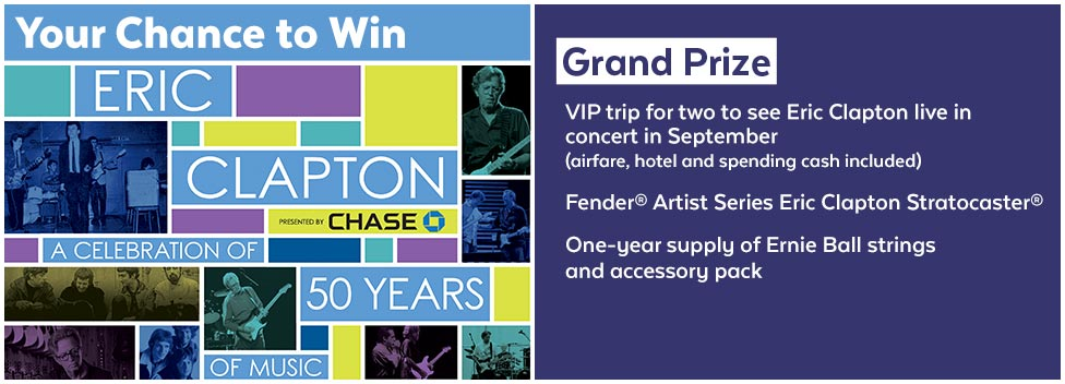 March Eric Clapton Sweepstakes