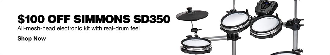 $100 Off Simmons SD350 Electronic Drums