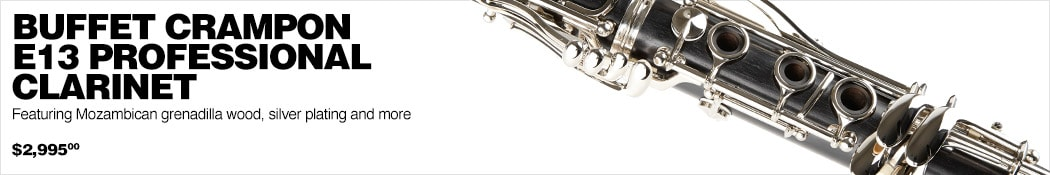 Buffet Crampon E13 Professional Clarinet Featuring Mozambican grenadilla wood, silver plating and more $2995.00