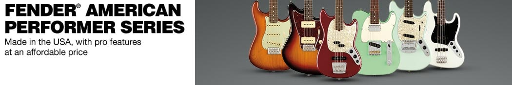 Fender® American Performer Series.  Made in the USA, with pro features at an affordable price.