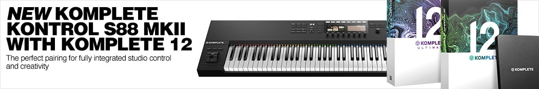 New Komplete Kontrol S88 MKII with KOMPLETE 12.  The perfect pairing for fully integrated studio control and creativity.