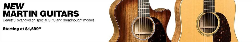 New Martin Ovangkol Guitars