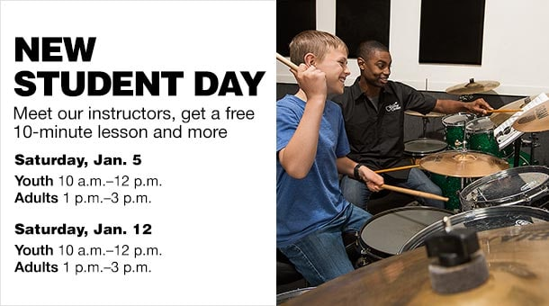 New Student Day Meet our instructors, get a free 10-minute lesson and more. Saturday, Jan. 5 Youth 10 a.m.-12 p.m. Adults 1 p.m.-3 p.m. Saturday, Jan. 12 Youth 10 a.m.-12 p.m. Adults 1 p.m.-3 p.m.