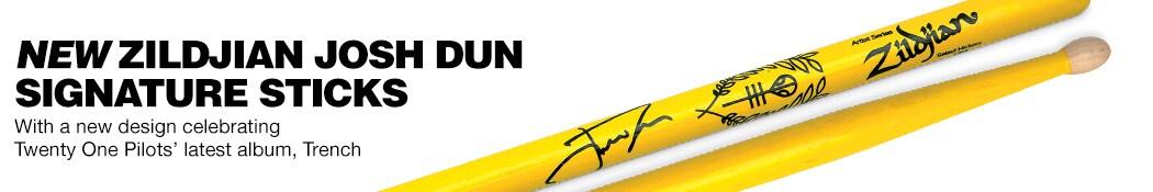 New Zildjian Josh Dun Signature Sticks.  With a new design celebrating Twenty One Pilots' latest album, Trench.