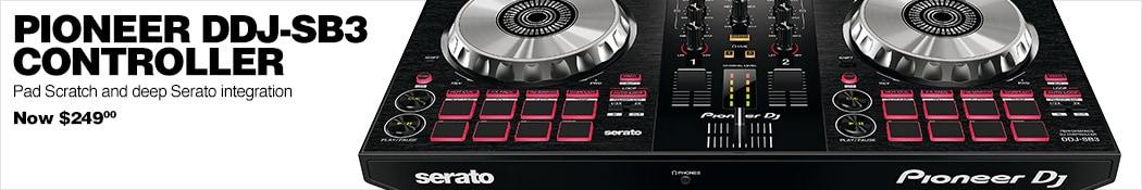 Pioneer DDJ-SB3 Controller. Pad Scratch and deep Serato integration.  Now $249.00.