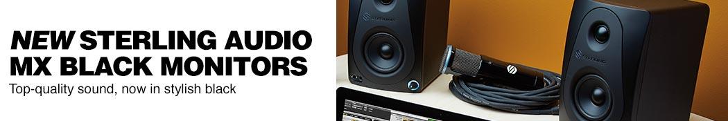 Sterling MX Black Studio Monitors