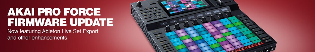 AKAI Pro Force Firmware Update. Now featuring Ableton Live Set Export and other enhancements.