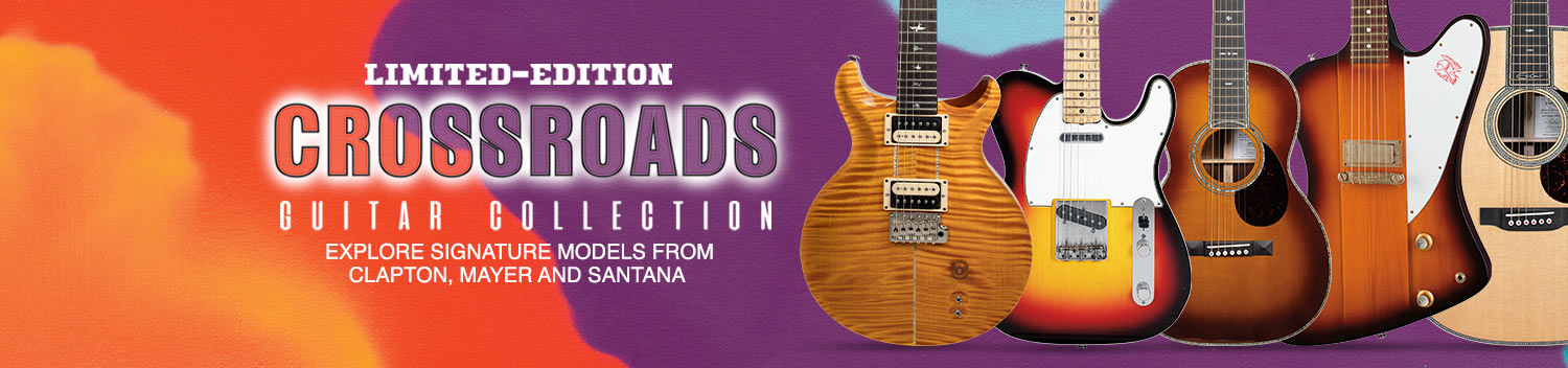 Limited-Edition Crossroads Guitar Collection. Explore signature models from Clapton, Mayer, and Santana.