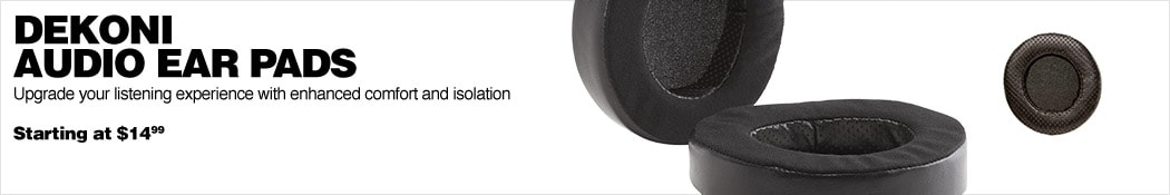 Dekoni Audio Ear Pads. Upgrade your listening experience with enhanced comfort and isolation. Starting at $14.99.