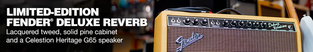 Limited Edition Fender Deluxe Reverb Lacquered tweed , solid pine cabinet and a Celestion Heritage G65 speaker
