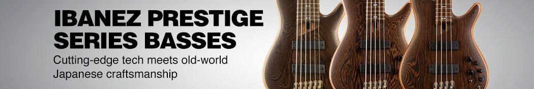 Ibanez Prestige Series Basses. Cutting-edge tech meets old-world Japanese craftsmanship.