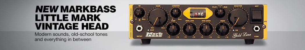 New Markbass Little Mark Vintage Head. Modern sound, old-school tone and everything in between.